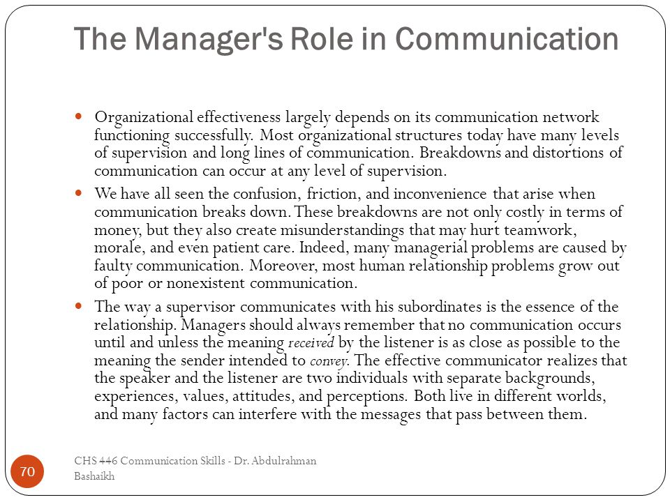 The Relationship Between Supervisory Communication, Subordinate Performance & Satisfaction