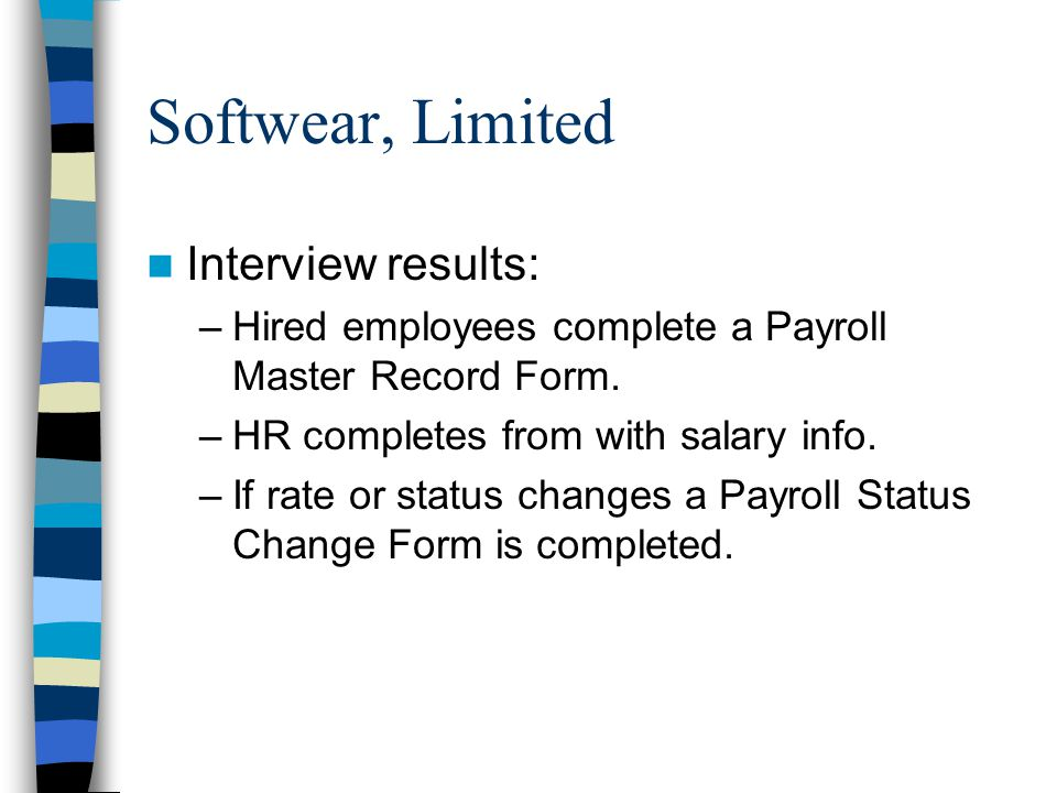 payroll status change form
