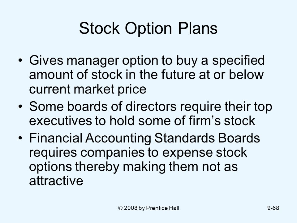 Benefits of expensing stock options