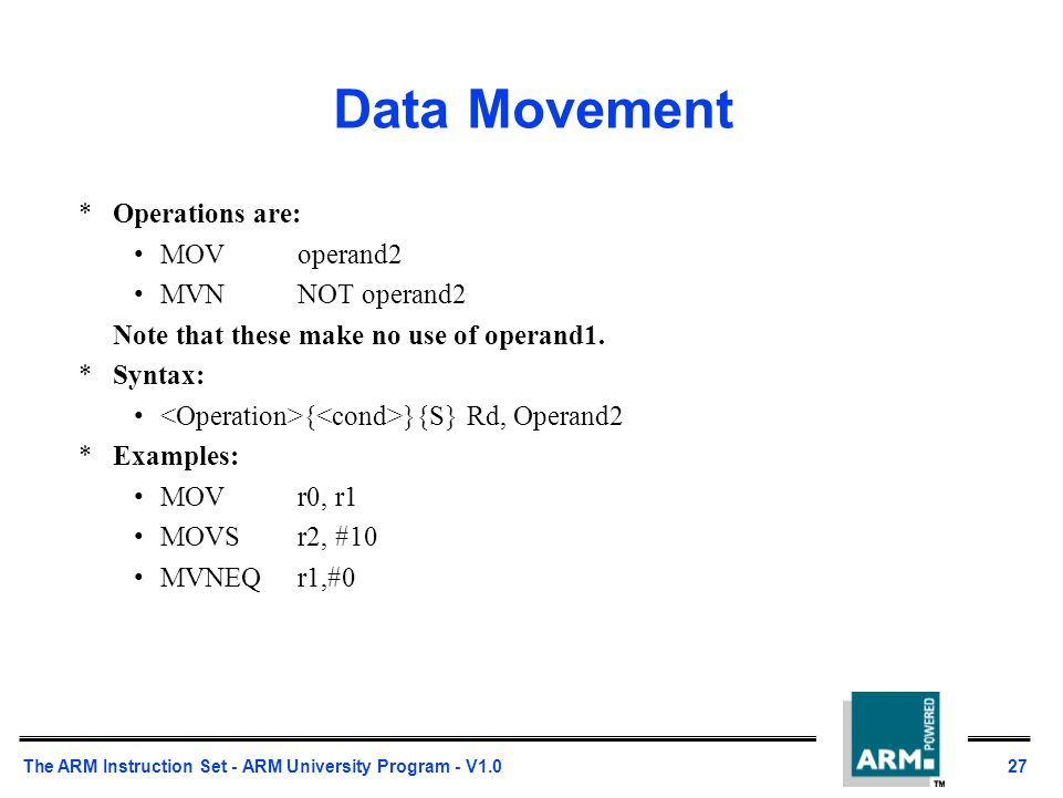 orr arm instruction example