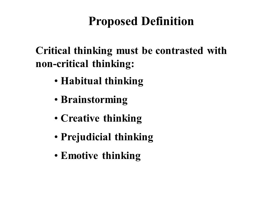 What does critical thinking involve   Non Custodial Parents Party     The Society Pages Non domain specific critical thinking knowledge skills behaviors