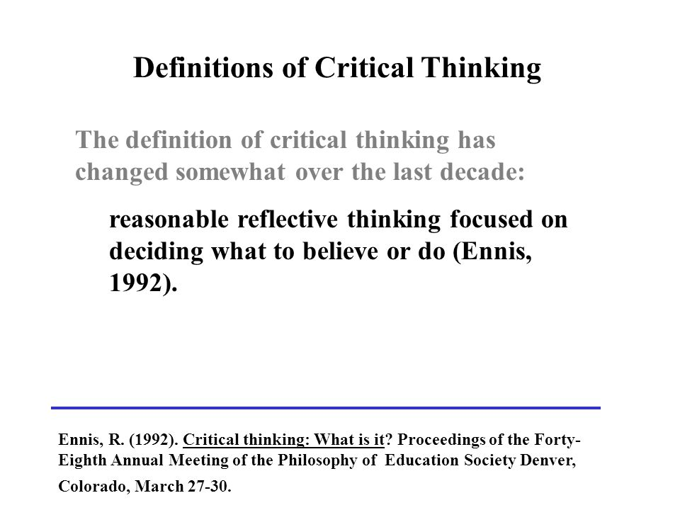 what is critical thinking and why is it important in psychology