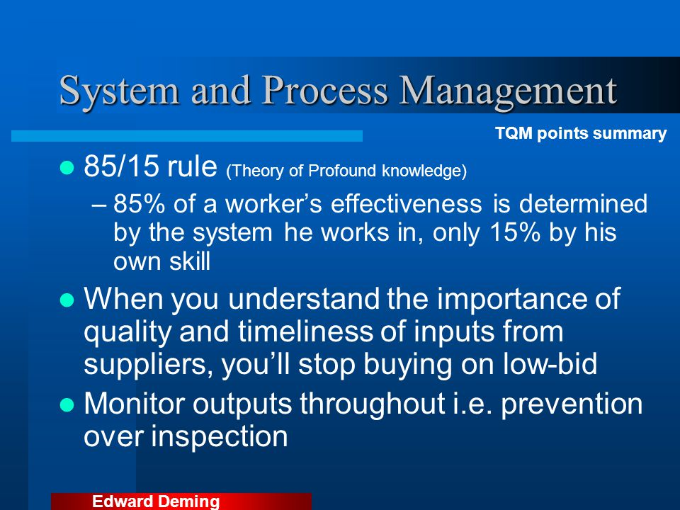 System and Process Management