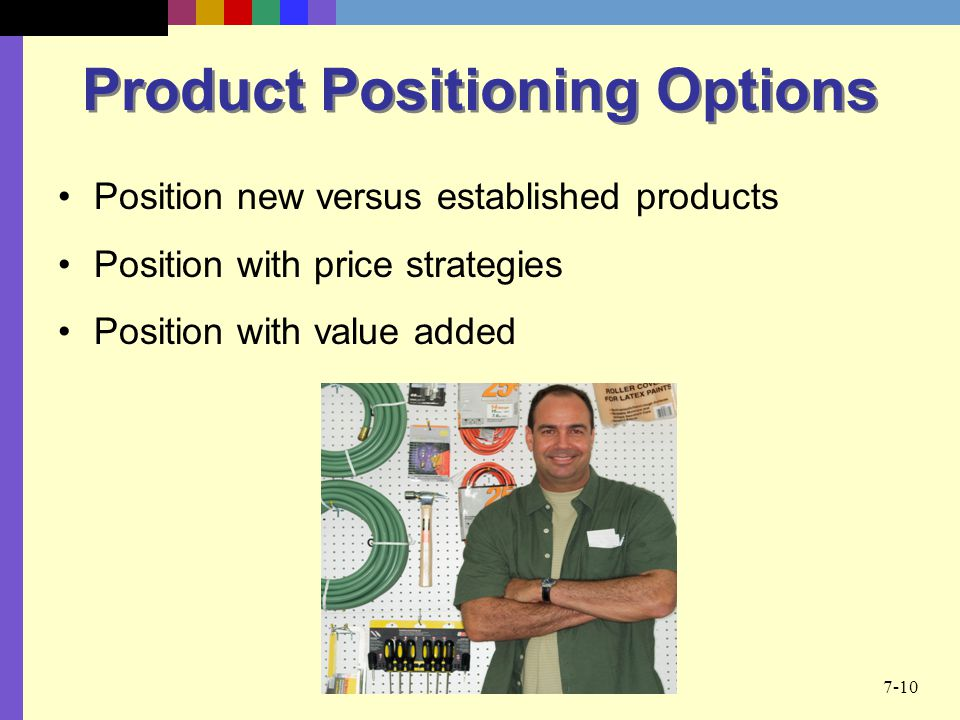 Product Positioning Options