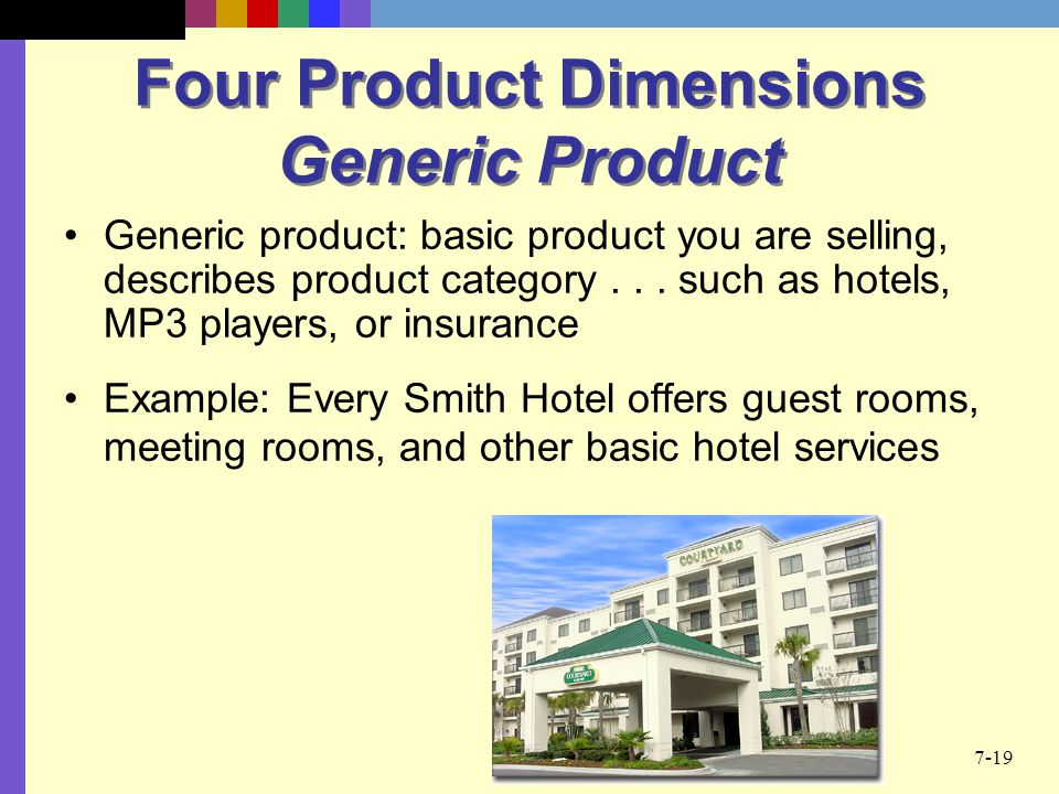 Four Product Dimensions Generic Product