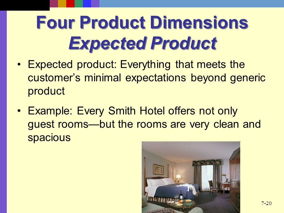 Four Product Dimensions Expected Product