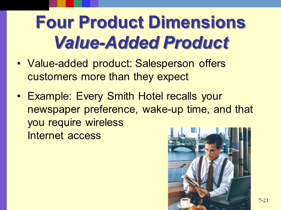 Four Product Dimensions Value-Added Product