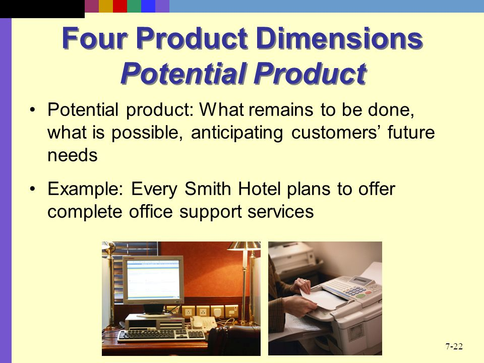 Four Product Dimensions Potential Product