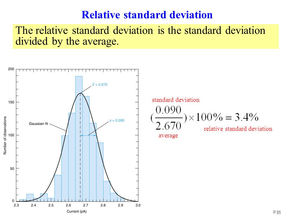 how to find standard deviation of weighted average