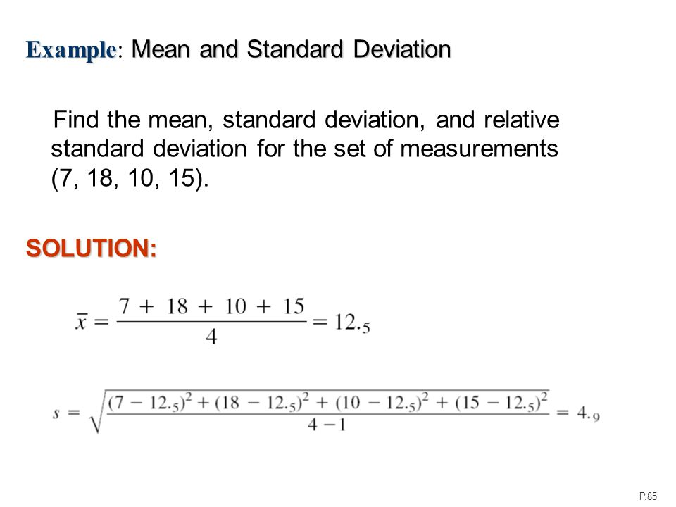 exercise 18 mean standard deviation and Lesson 6: interpreting the standard deviation student outcomes students calculate the standard deviation of a sample with the aid of a calculator students compare.