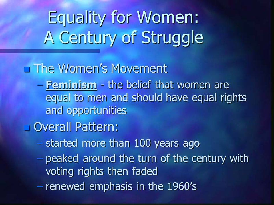 Women Should Have Equal Rights as Men Essay