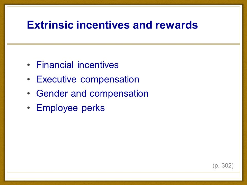 intrinsic and extrinsic compensation Impact of rewards on employee motivation of the  rewards can be extrinsic or intrinsic, extrinsic rewards are tangible rewards and these  compensation systems.