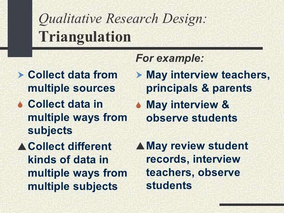 Qualitative Research Design: Triangulation