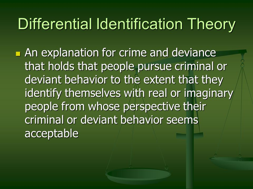 an explanation of criminal behavior from a sociological perspective Criminal behavior theories the explanation could be simple or complex the criminal activity that an individual chooses to act on.