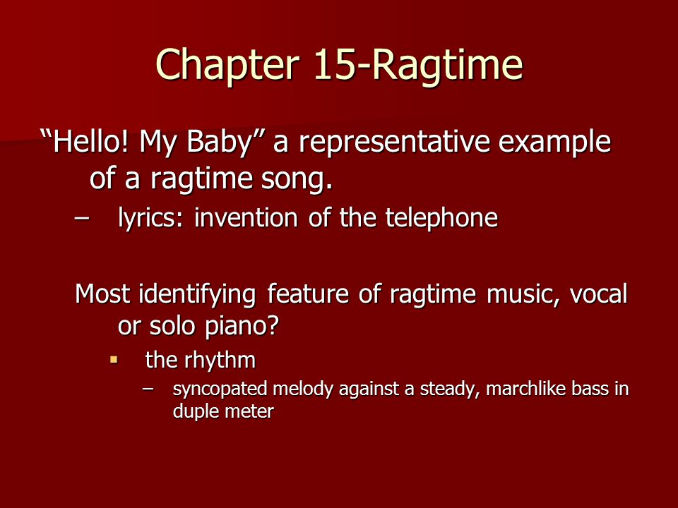 example of ragtime music