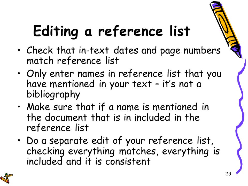 writing academic reference