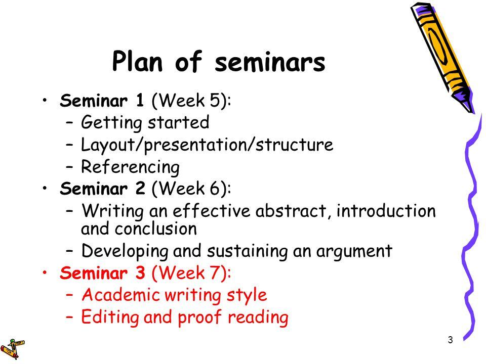 writing seminars
