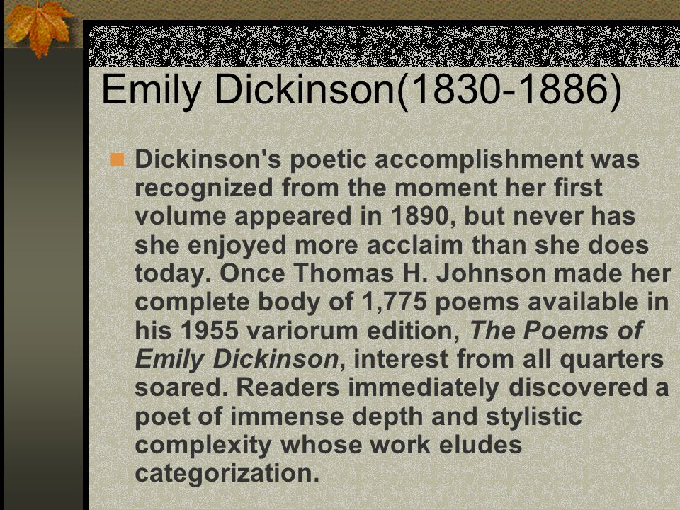 Symbolism In Emily Dickinsons Poetry Custom Paper Academic