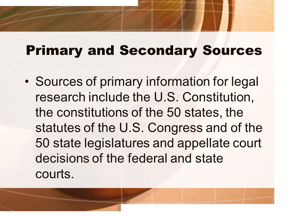 primary and secondary sources of literature review ppt Primary sources these are and so can be described as at least one step removed from the event or phenomenon under review secondary source materials, then.