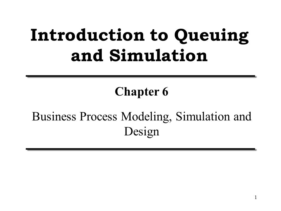 queuing sample intro Tion to probability and mathematical statistics and it is intended for students  201 one-way analysis of variance with equal sample sizes 202.