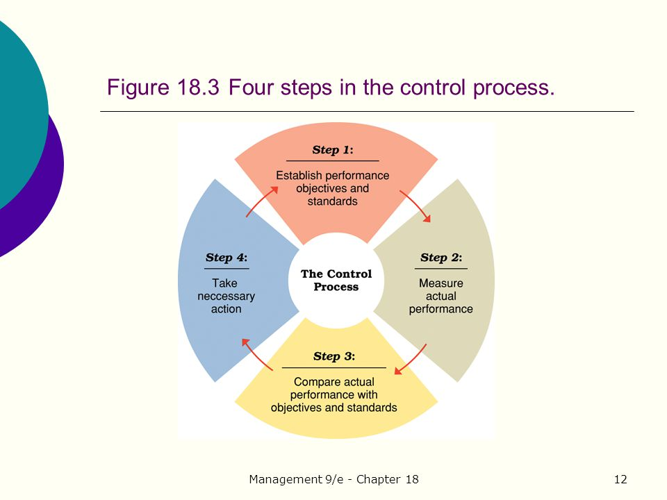 Figure 18.3 Four steps in the control process.