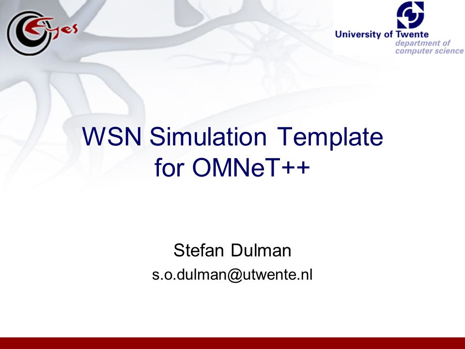 WSN Simulation Template for OMNeT++