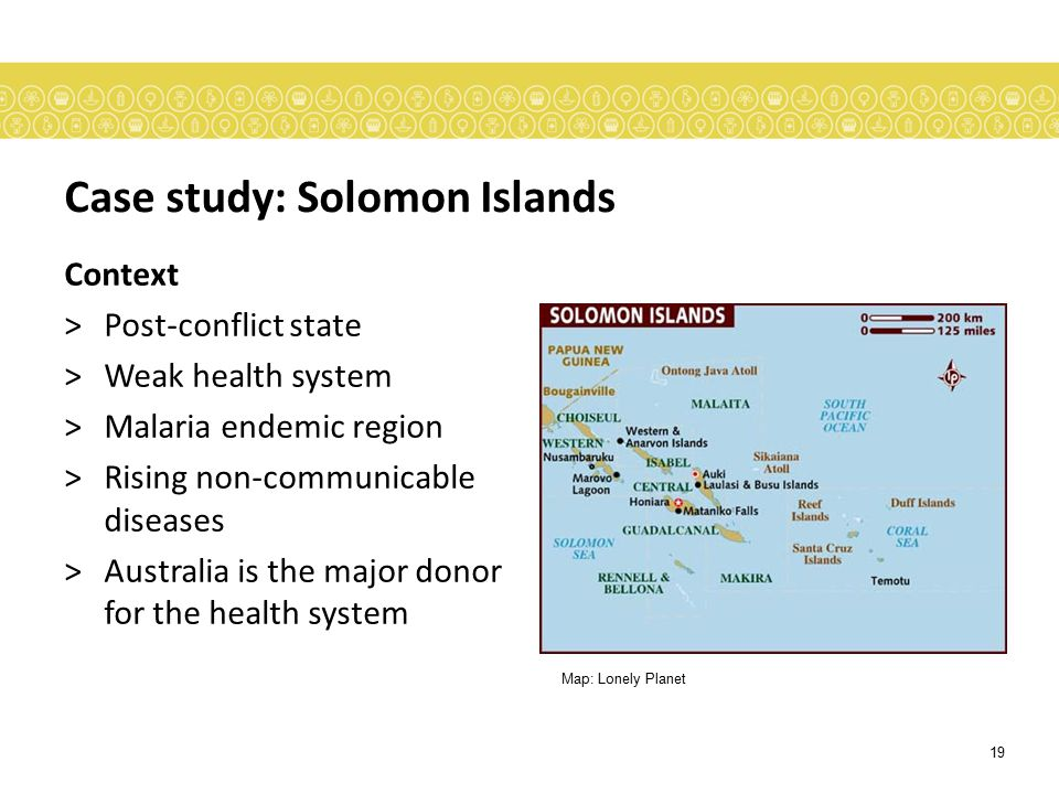 Case study: Solomon Islands