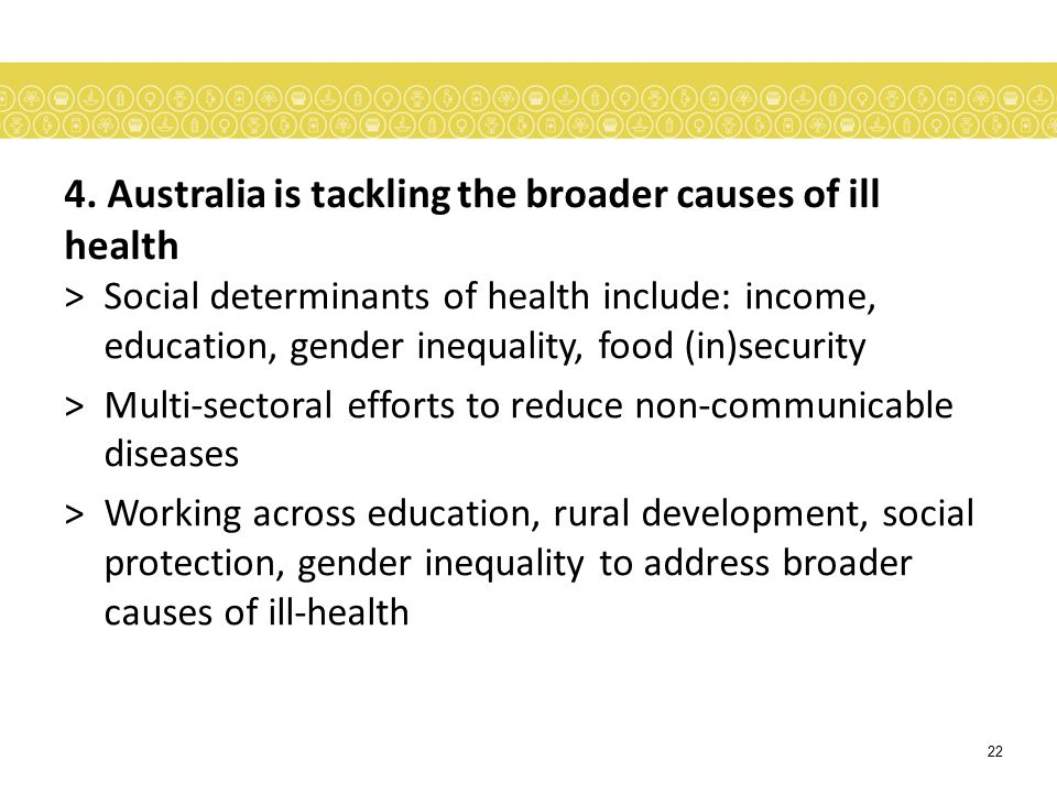 4. Australia is tackling the broader causes of ill health