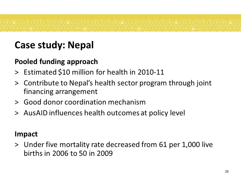 Case study: Nepal Pooled funding approach