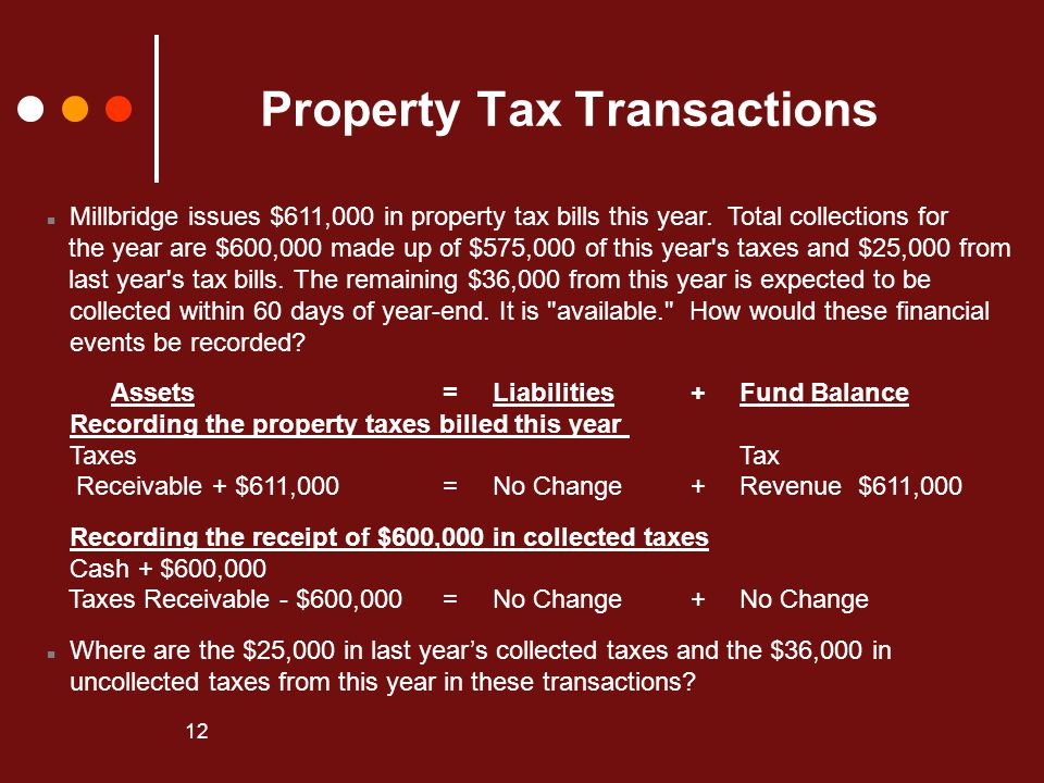 Property Tax Transactions