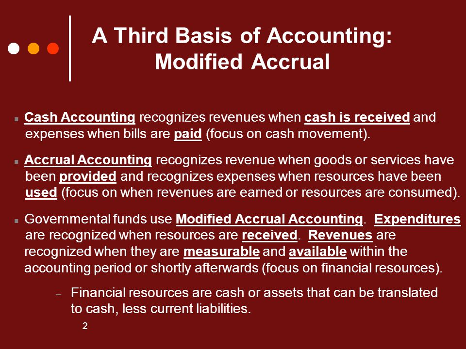 A Third Basis of Accounting: