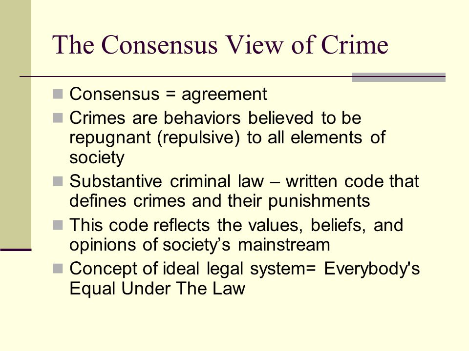 What is the Social Definition of Crime?