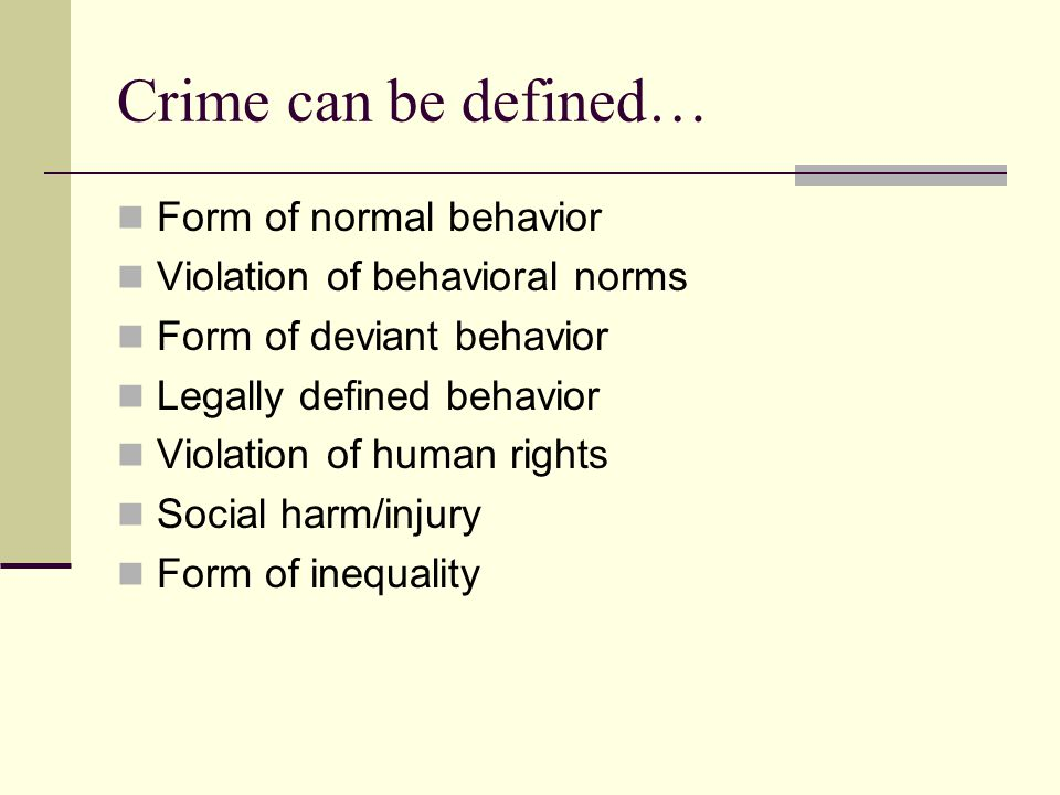 The Normality of Crime