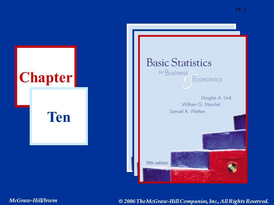 Chapter Ten McGraw-Hill/Irwin