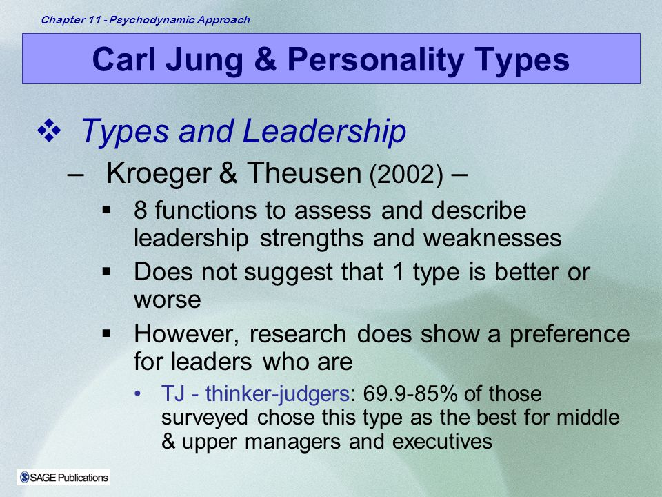Carl Jung and the personality types