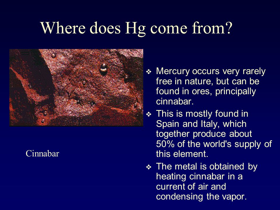 Where Can The Element Mercury Be Found In Nature