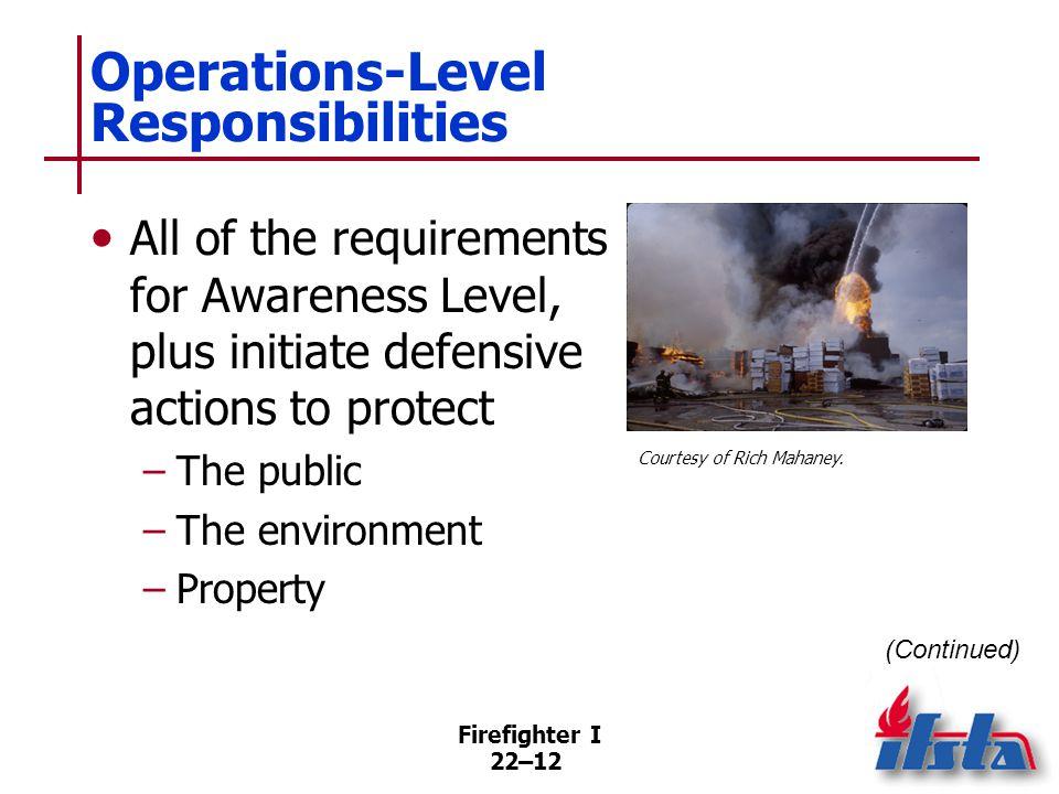 Operations Level Responsibilities