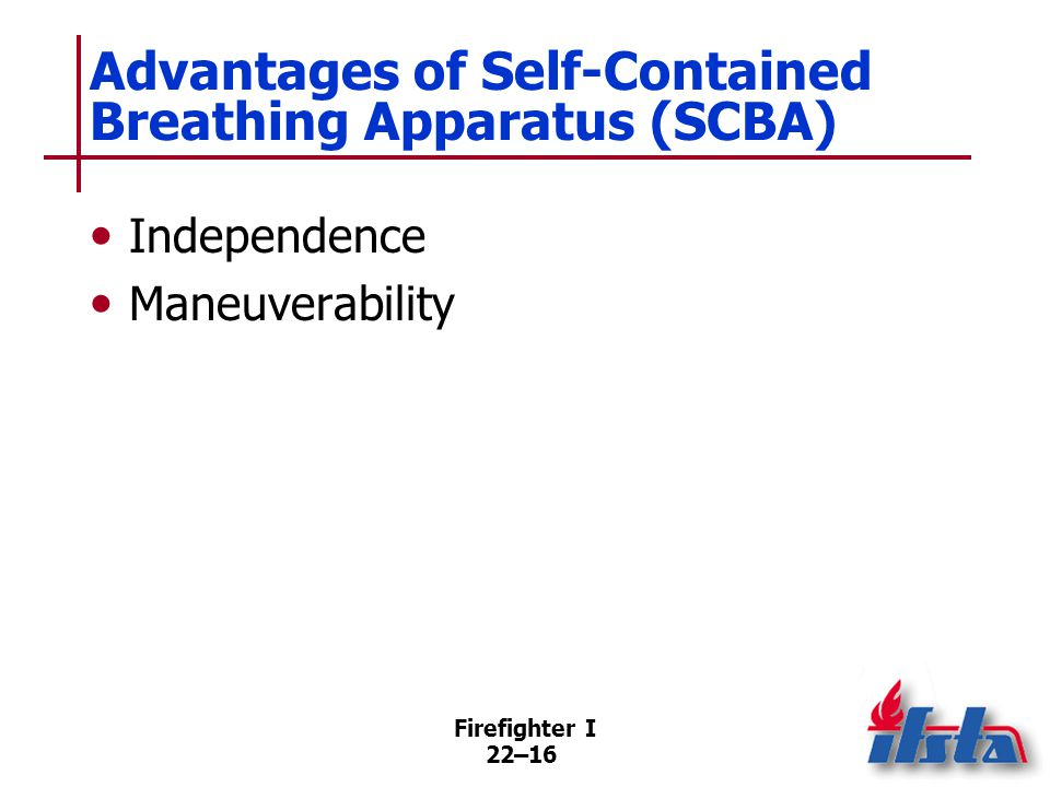 Disadvantages of Self-Contained Breathing Apparatus (SCBA)