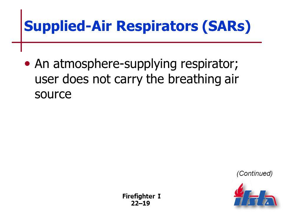 Supplied-Air Respirators (SARs)