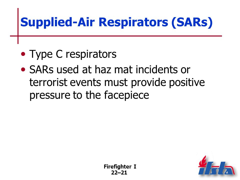 Supplied-Air Respirators (SARs): Advantage
