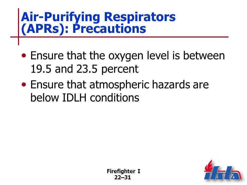Air-Purifying Respirators (APRs): Use at Haz Mat