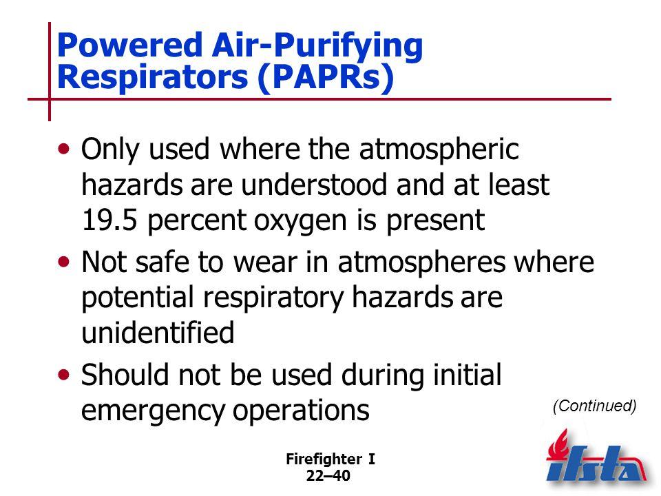 Powered Air-Purifying Respirators (PAPRs)