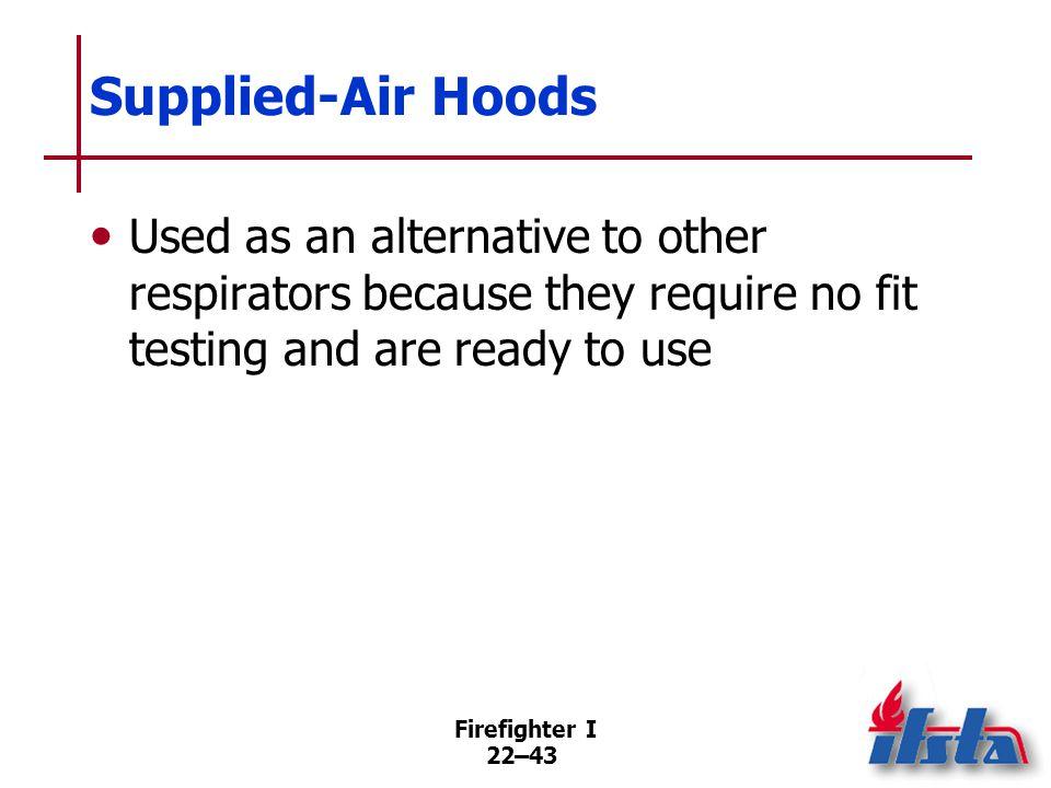 Escape Respirators Designed for escaping the hot zone