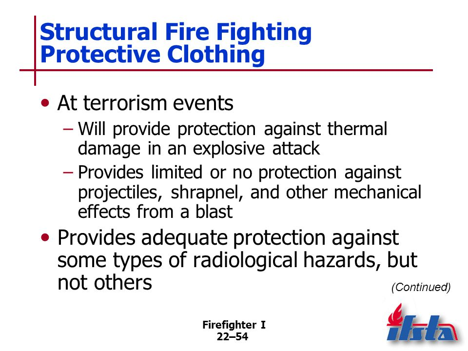 Structural Fire Fighting Protective Clothing