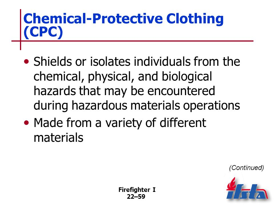 Chemical-Protective Clothing (CPC)