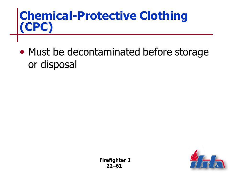 Chemical-Protective Clothing (CPC): Liquid-Splash Protective Clothing