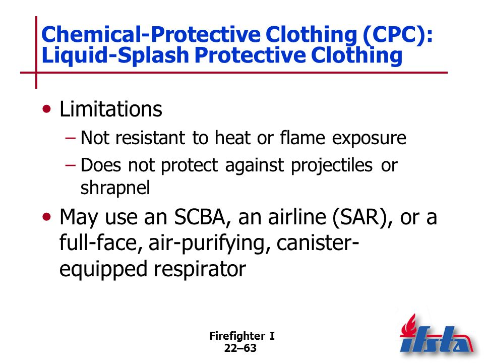 Chemical-Protective Clothing (CPC): Vapor-Protective Clothing