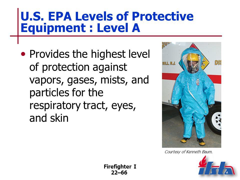 U.S. EPA Levels of Protective Equipment : Level B