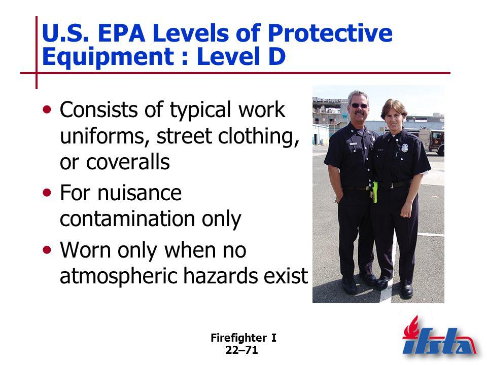 NFPA® 1994 PPE Ensemble Classifications