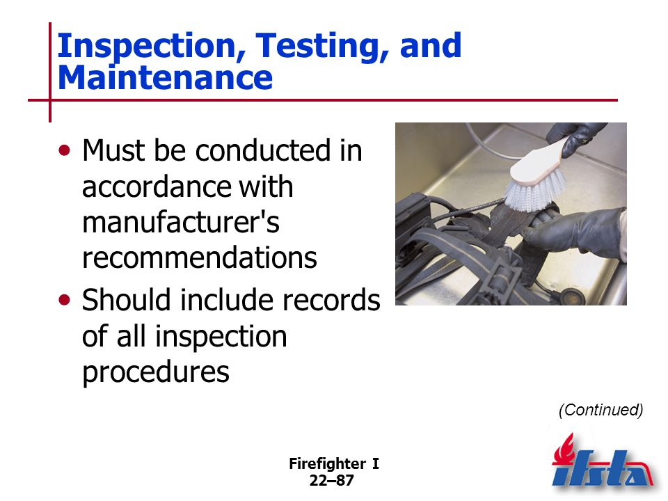Inspection, Testing, and Maintenance